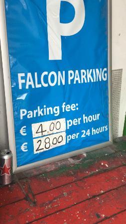 Falcon Plaza Hotel : Parking