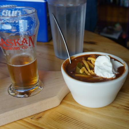 Indian, AK: Yummie! Caribou chili has a nice smokey flavor to it.