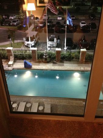 hilton garden inn lawton fort sill view from room at night - Hilton Garden Inn Lawton Ok