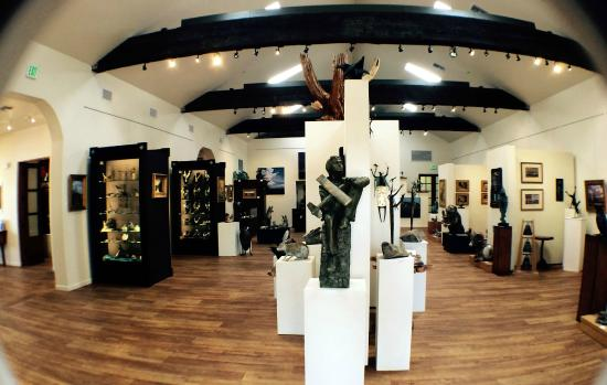 Interior of K Newby Gallery located in Tubac, Arizona