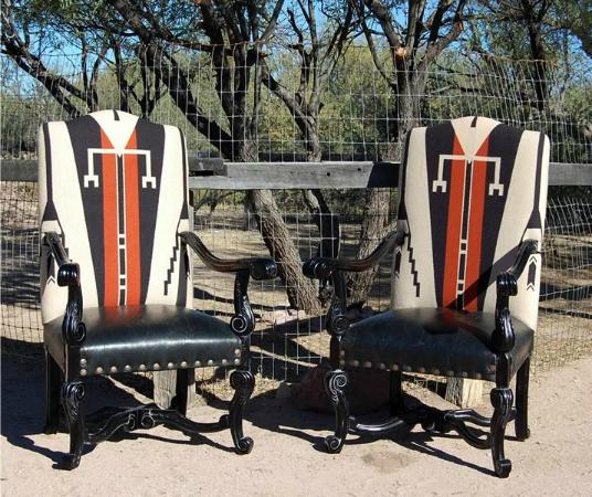 Tubac, AZ: Old Hickory Tannery Furniture - Antiques of the Future - available at K Newby Gallery