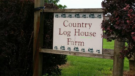 Country Log House and Farm Photo