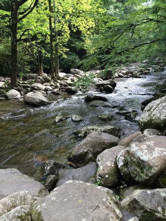 Chimneys Picnic Area river with river rocks