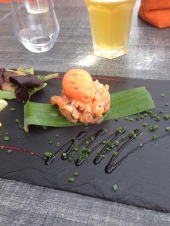 tartare de saumon pav 233 de maigre photo de 2 potes au