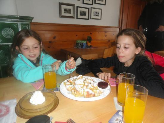 Rodelbahn Krinnenalpe: Panquecas deliciosas