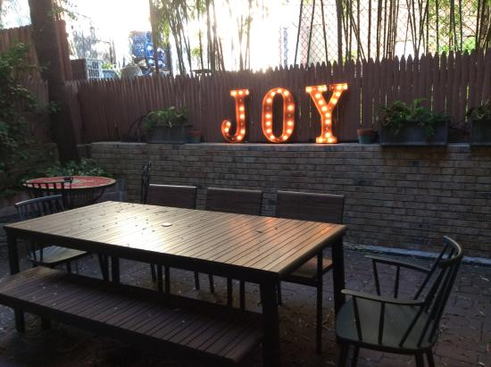 East Village Apartments: Lovely to have an outdoor area and come home to Joy each night!