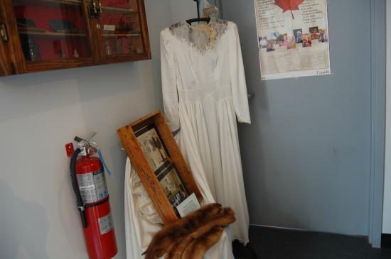 North Sydney, Canada: wedding dress and other items of clothing
