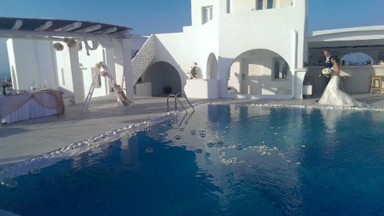 Rocabella Santorini Hotel Spa Pool Area