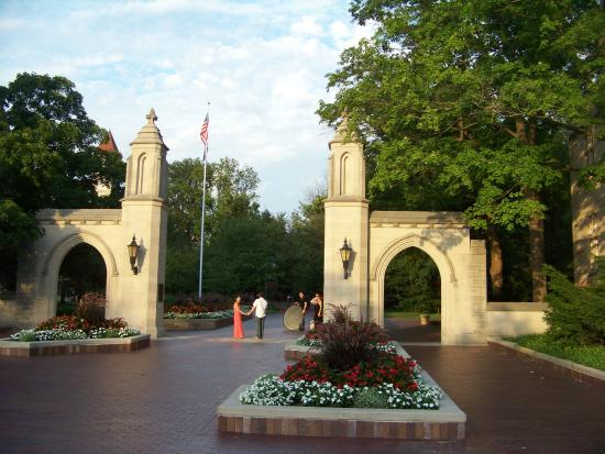 iu entrance arches picture of indiana university bloomington