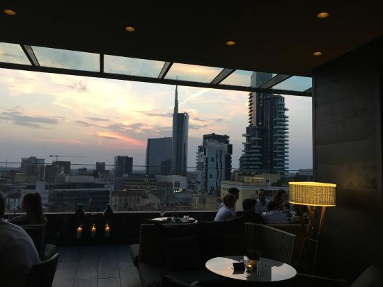 The view picture of radio rooftop milan milan tripadvisor for Milano rooftop bar