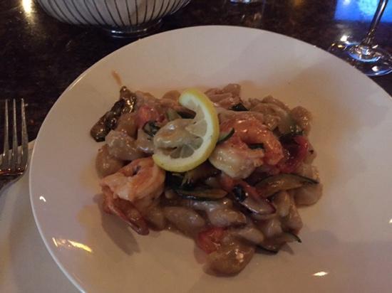Columbus Park Trattoria: shrimp gnocci...very good...!