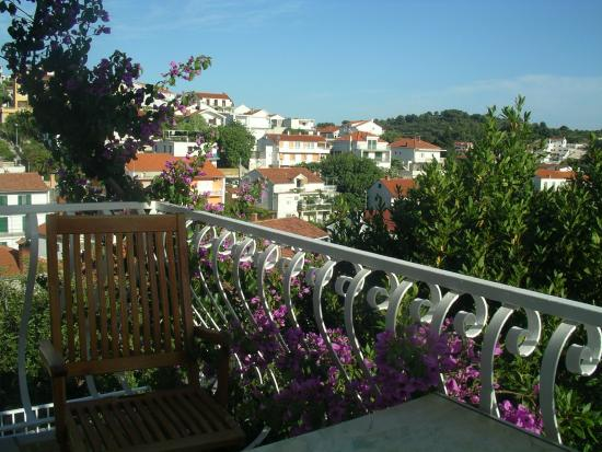 House Gordana: View over Hvar looking SE from room balcony