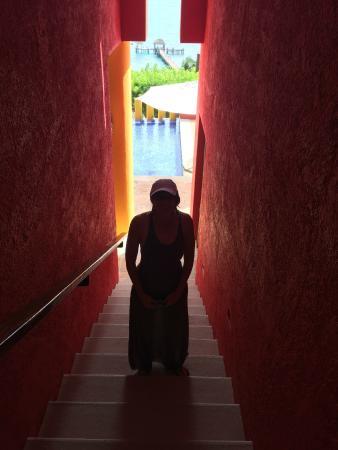 Casa de los Suenos: Colorful Stairwell