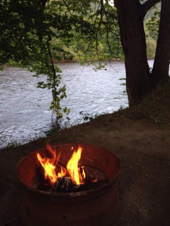 Herkimer KOA Campground: River site view