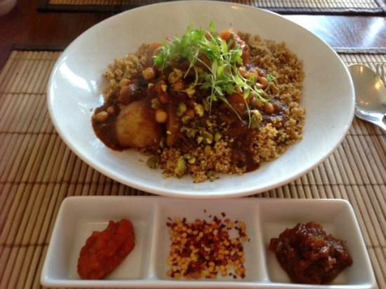The Bean Inn Vegetarian Restaurant: Moroccan Vegetable and Chick Pea Chermoula Casserole