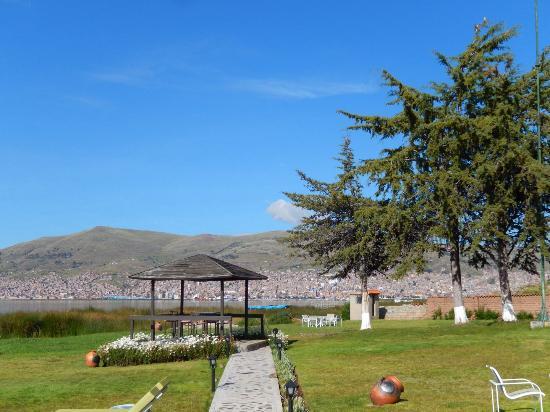 Lake front view photo de sonesta posadas del inca lake for Lake front view