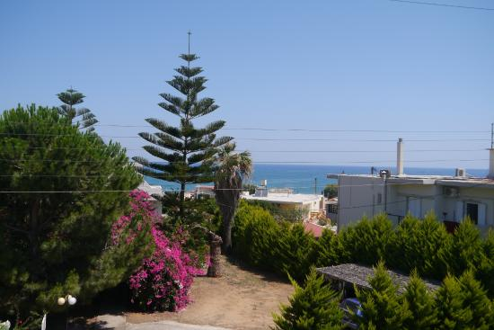 Melina's House : Uitzicht vanaf ons balkon