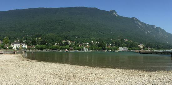 Looking towards Le Calypso from the beach at Le Bourget-du-Lac
