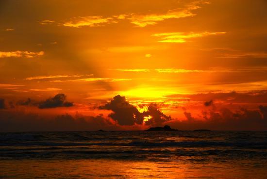 Bentota, Sri Lanka: закат
