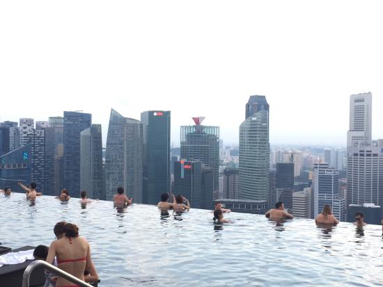 Singapore skyline picture of marina bay sands singapore tripadvisor - Singapore hotel piscina ...