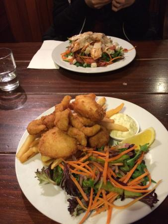 Ocean Child Inn : Chicken salad $12 and seafood basket $10