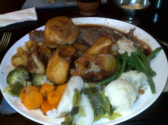 Clovelly Bay Inn: Roast beef sunday lunch
