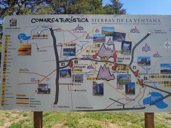 Foto de plaza del mirador sierra de la ventana mapa for Que hacer en sierra de la ventana