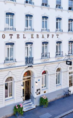 Hotel Krafft Basel : Eingang Hotel