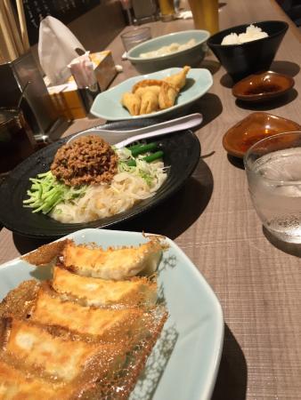 ジャジャ麺と餃子