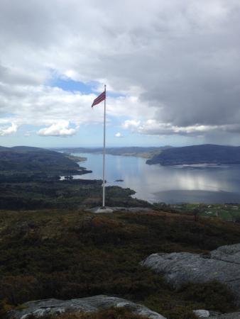 Fjordslottet Hotell: Utsikt fra Åsheimsveten
