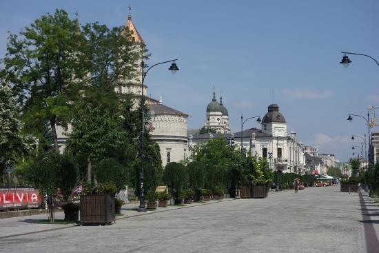 Iasi, Rumania: Bulevardul Ştefan cel Mare şi Sfânt