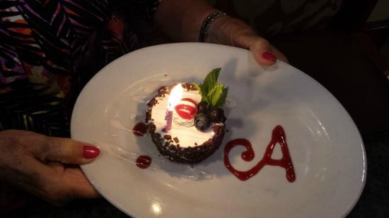 Le Chateau Garden Bistro : Birthday celebration