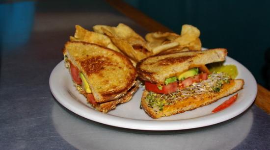 Sunshine Cafe: Jewelry Wine Cheddar cheese sandwich