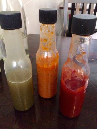 Beast Restaurant: All their own homemade sauces & ketchup to add a flavor twist to my brunch.