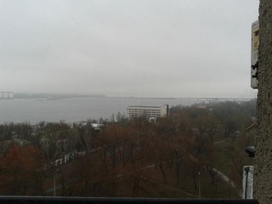 Tourist Hotel Mykolaiv: вид из окна