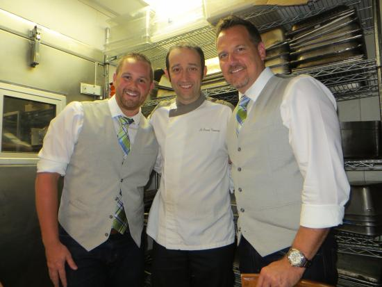 Vincent - A Restaurant: Vincent and us in the kitchen!