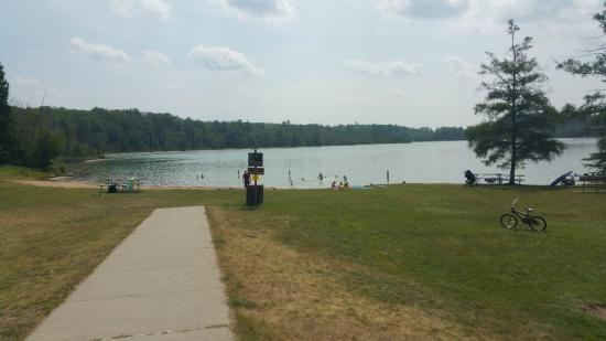 Lupton, MI: Beach area in Grousehaven