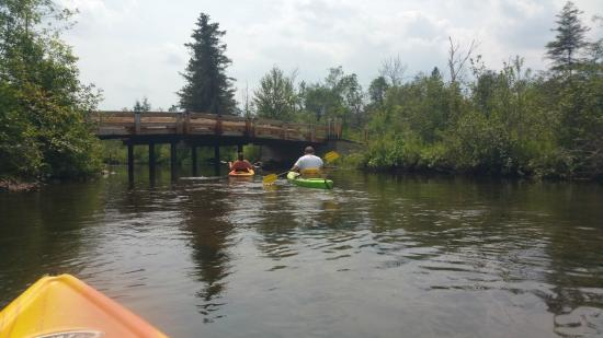 Lupton, MI: Kayaking down the river