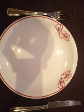 Maison de l'Inde: L'assiette à la fin du repas!! Rien à dire, c'est trop bon!!