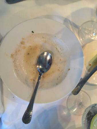 Cape Sea Grill: Yep, the clam chowder was so good, we finished every last drop!
