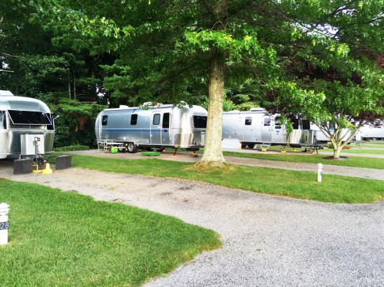 Copper Hill, Wirginia: Airstreams at VHHP lined up as far as the eye can see!