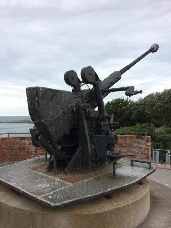 Уэймут, UK: Antiaircraft guns
