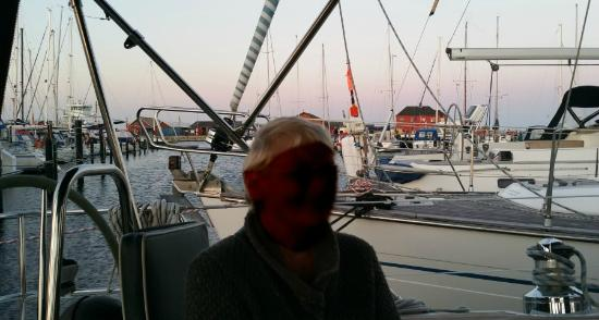 Hals Havn: a part of the harbour,- seen from one of the yachts