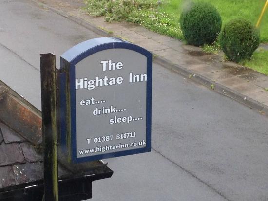 The Hightae Inn: The sign