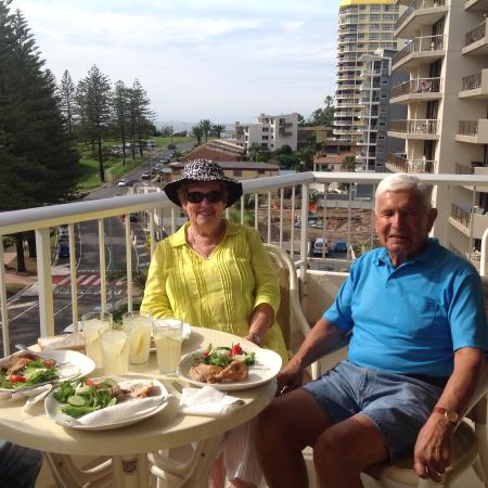 Rainbow Place: Lunch on the balcony