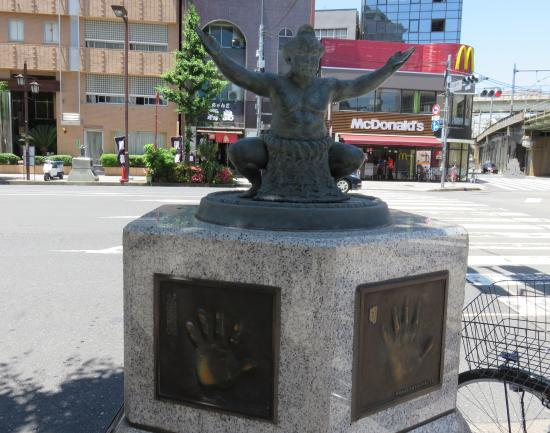 The Statue of Sumo Wrestler on Kokugi-Kan Street
