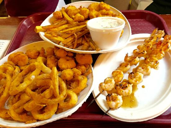 Shrimp plate scallops plate and grilled shrimp picture for Cliffords fish fry