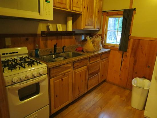 Prospect, OR: Kitchen - eat at a small table next to bed.