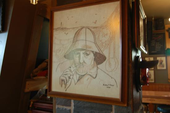 Carvers Coffee House Studio and Pub: Art on the wall in Carvers
