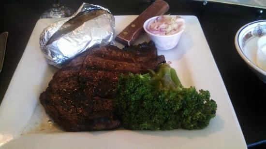 The Bullhouse: Ribeye, Baked Potato & Broccoli